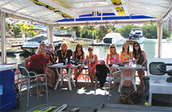 12 person BBQ pontoon for hire Capri boat hire Gold Coast