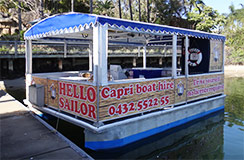 BBQ pontoon hire boat Gold Coast