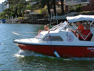 Half Cabin Cruiser Hire Gold Coast Family Boating Cruising